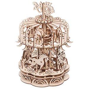 GIGAMIC - Carrousel Petit modle-Maquette 3D Mobile en Bois, PWCAS, - Publicité