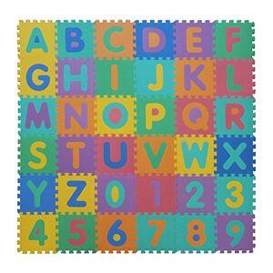 VeloVendo Tapis Mousse Bébé   Dalles 32 x 32 cm avec Certification CE & TV   Tapis pour Enfants   Tapis de Puzzle (Lettres + Chiffres) - Publicité