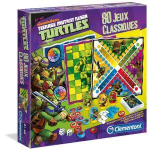 Clementoni 62294.8 Jeu de Société 80 Jeux Classiques  Tortues Ninja - Publicité