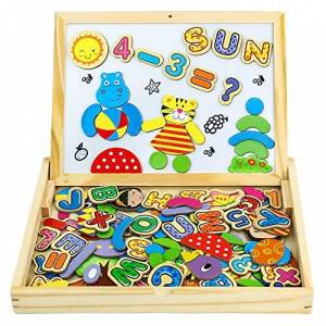 Yixin Puzzle Enfant 3 Ans Jouet en Bois Magnétique Jeux Educatif Montessori Tableau Enfants Double Face Cadeau pour Enfant Fille Garcon 3 4+Ans 90 Pices - Publicité
