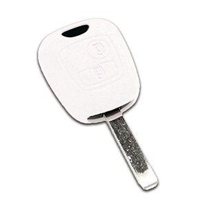 Housse de clé en Silicone pour Citron C1 C2 C3 C4 C5 Saxo Xsara Picasso Blanc - Publicité