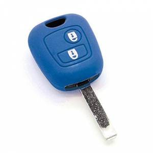 Housse de clé en Silicone pour Citron C1 C2 C3 C4 C5 Saxo Xsara Picasso Bleu Foncé - Publicité