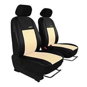 Saferide Housses de siège de voiture Beige 1 + 1 Transporter Housses de siège de voiture Housses de siège avant Gallante Premium - Publicité