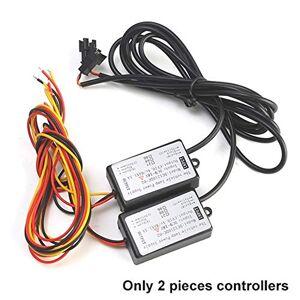 N\A Lampe de Travail de Voiture 2pcs Turn Signal DRL LED Flexible Bande d'éclairage diurne DRL séquentielle étanche Flux phares Switchback Coureurs d'angle Lumière Voiture Car Light Work - Publicité
