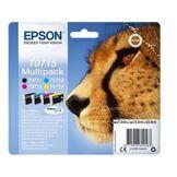 Epson T0715 Pack 4 cartouches Noir et couleurs C13T07154010 (Guepard)