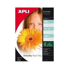 APLI Papier photo brillant 10x15 180g/m², 100 feuilles