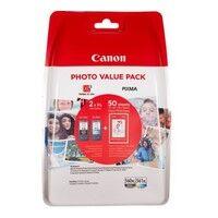 Canon PG560XL/CL561XL Pack 2 cartouches d'encre noire et couleurs + 50 feuilles papier photo (3712C004)