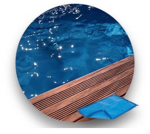 Piscinelle Bâche 400 µ LUXE compatible Piscinelle CR 6B : Rectangulaire + décp. Bloc