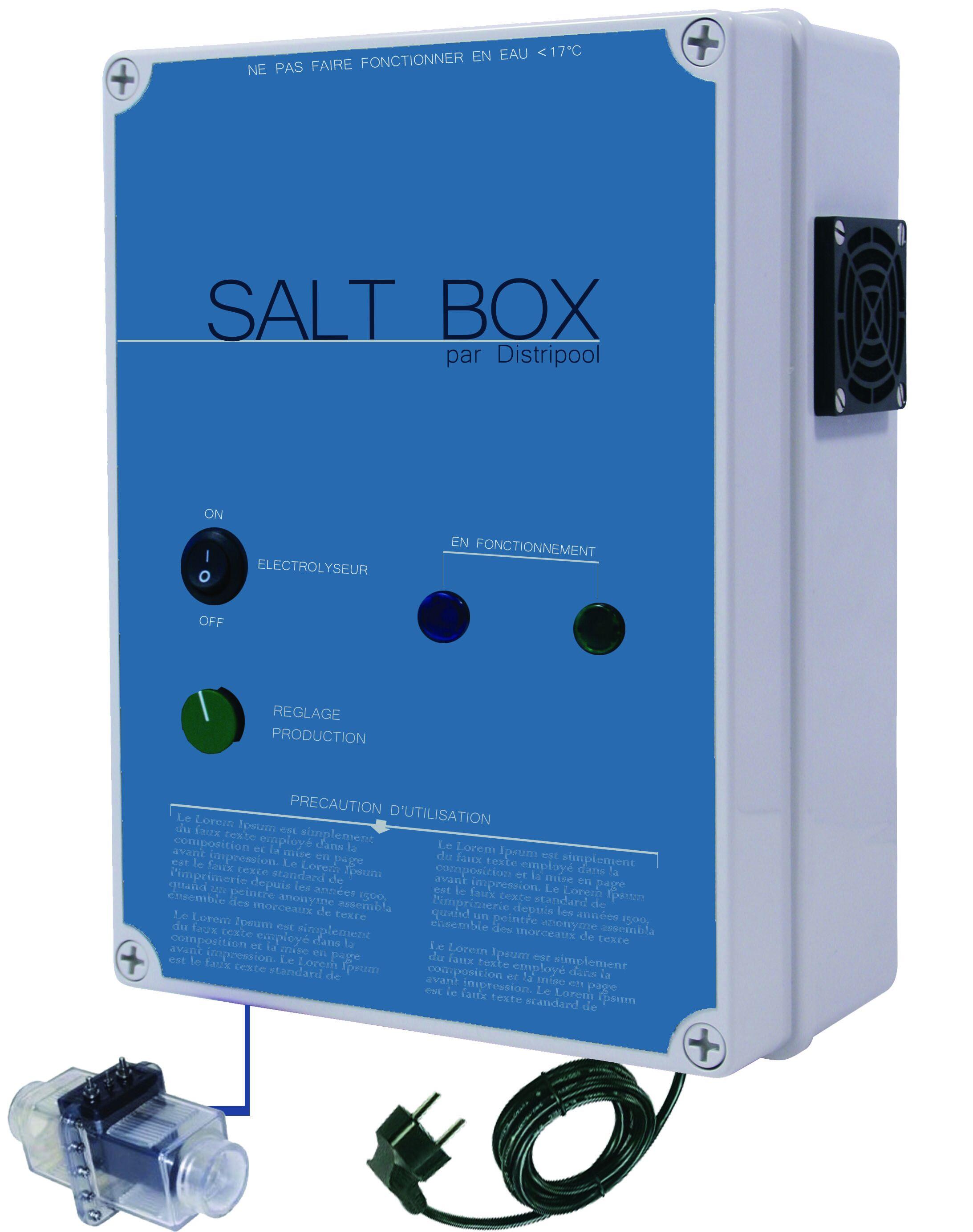 Bio-Pool Électrolyseur SALT-BOX ® 40 : pour piscine 40 m3