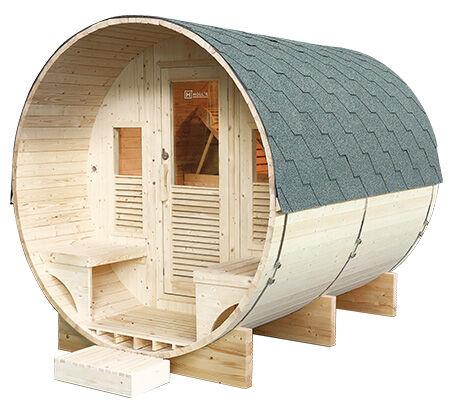 Sauna d'extérieur tonneau GAIA Luna
