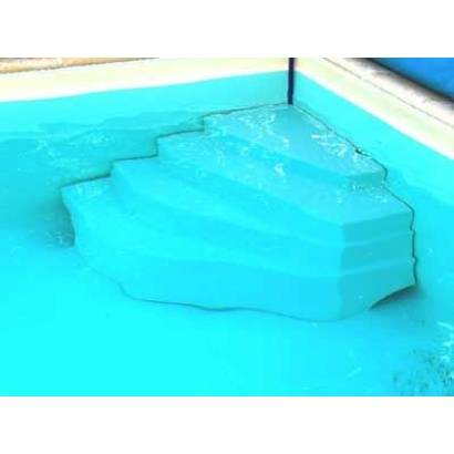 Escalier piscine Cybele Hauteur = 1.20 m + Kit fixation echelle existante