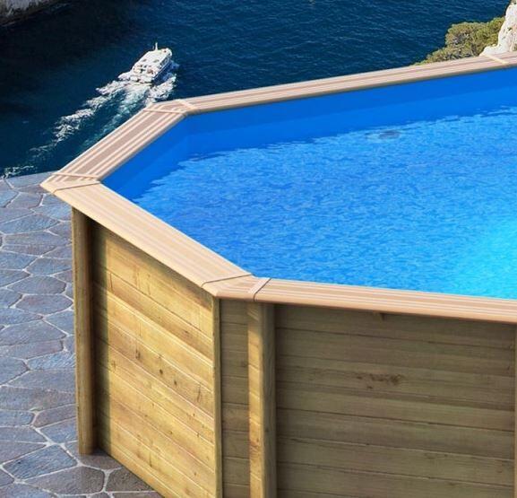 Lagon Liner piscine bois Lagon - Ubbink 355 x 550 x 120 cm
