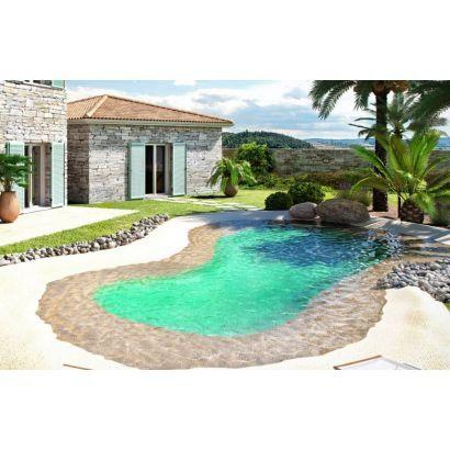 Kit de 50 m² piscine avec plage en caoutchouc LUXE