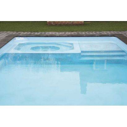 Piscine coque MENPHIS 2 : 8.70 x 4.20 x 1.50 m + LUXE + Coffre PVC hors sol
