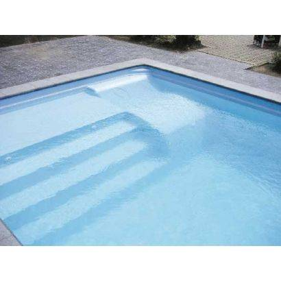 Piscine coque BYZANCE 8 : 8.20 x 4.20 x 1.50m + LUXE + Coffre PVC hors sol