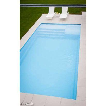 Piscine coque BYZANCE 10 : 10.20 x 4.20 x 1.50m + LUXE + Coffre PVC hors sol
