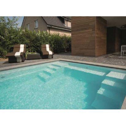 Piscine coque Sparte 7 : 7.45 x 3.60 x 1.50 m + LUXE + Coffre PVC hors sol