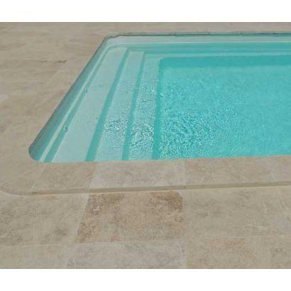 Piscine coque Troie 7 : 6.95 x 3.20 x 1.50m + LUXE + Coffre PVC hors sol