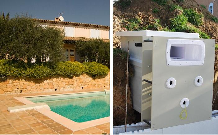 piscine en kit bloc polystyrène 6 x 3 m + bloc filtrant 12 m³