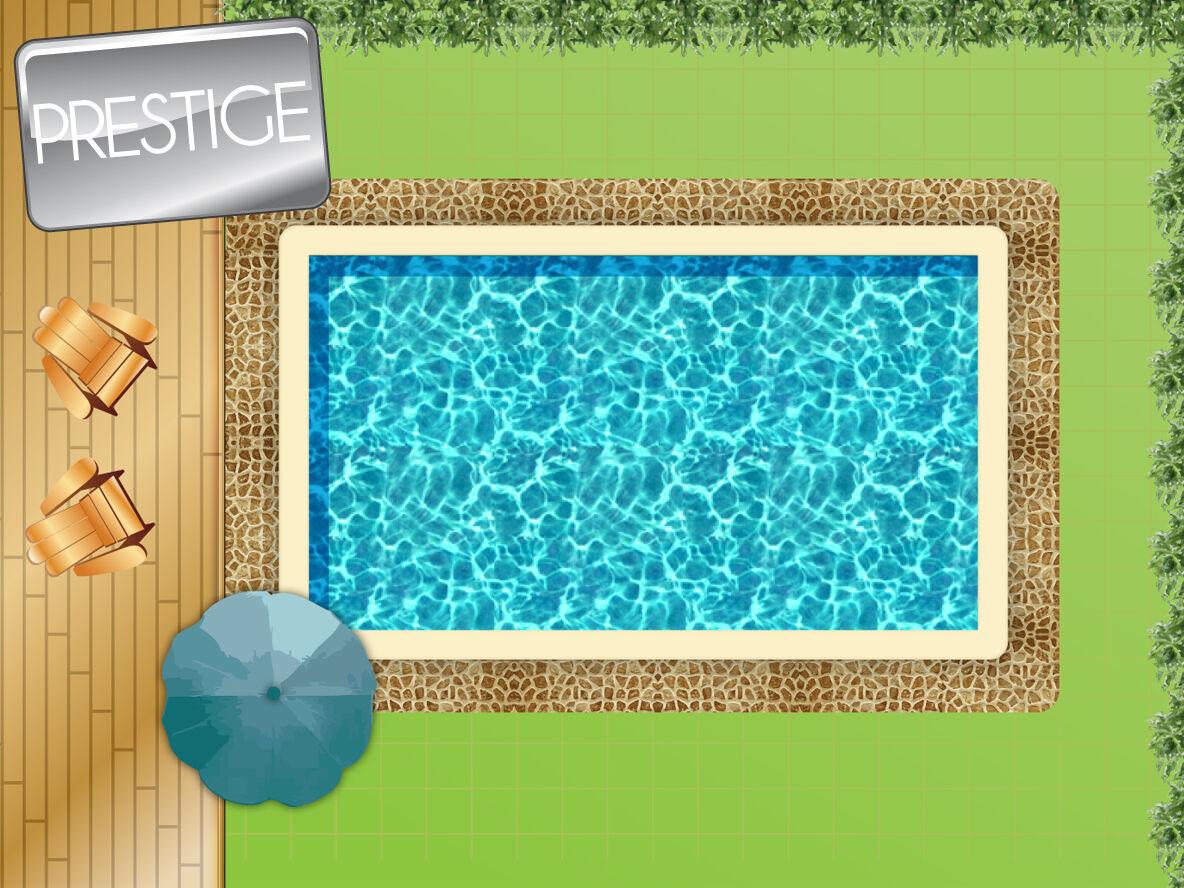 piscine en kit bloc polystyrène 7 x 3 m + bloc filtrant 12 m³