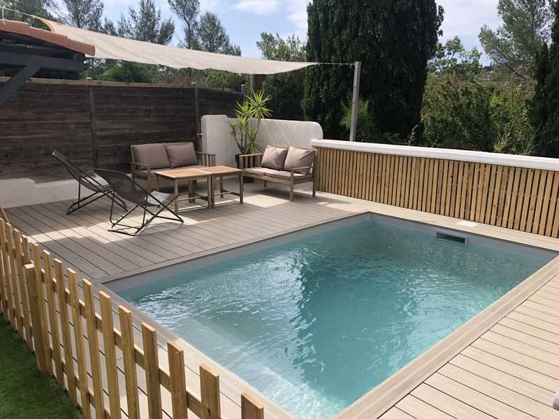 piscine en kit bloc polystyrène carré 4 x 4 x 1.25 m