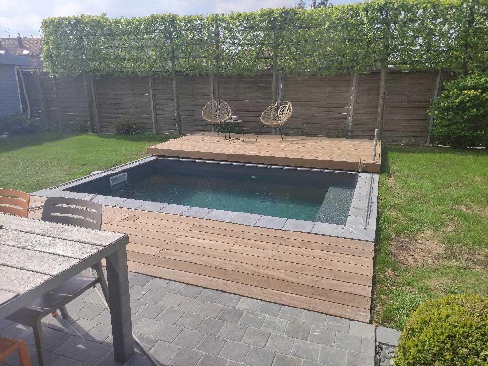 piscine bloc polystyrène ECO 4 x 2.50 x 1.50 m : Filtration tradi