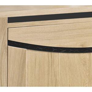 Buffet chêne massif blanchi 3 portes 1 tiroir - Publicité