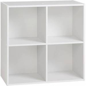 Etagère de rangement blanc 4 niches - Publicité