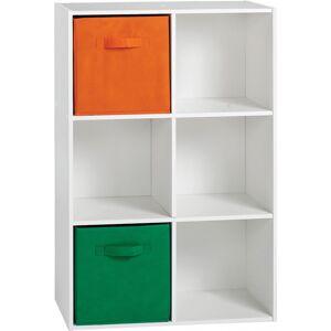 Etagère de rangement blanc 6 niches - Publicité