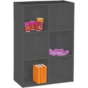 Etagère de rangement noir 6 niches - Publicité