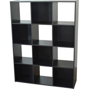 Etagère de rangement noir 12 niches - Publicité