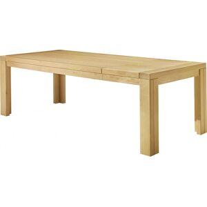 Table à manger rectangulaire chêne clair L200 1 allonge - Publicité