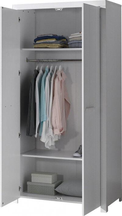 Armoire enfant blanc 2 portes – ERIK