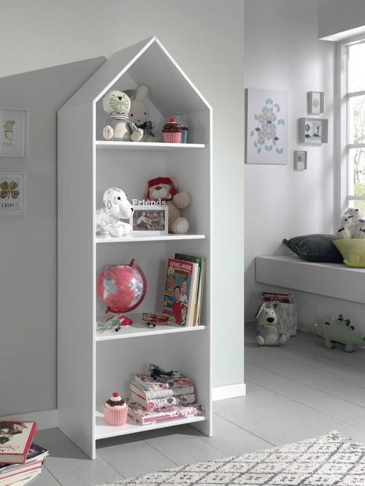 Armoire enfant ouverte blanc 3 étagères