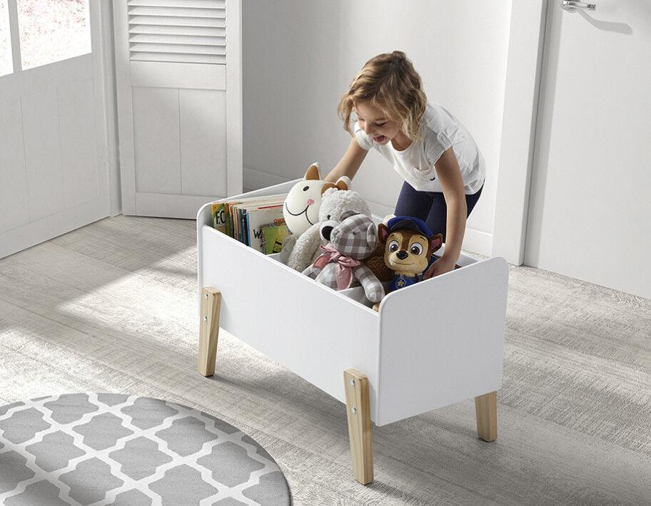 Coffre à jouet blanc 2 étagères verticale – KIDDY