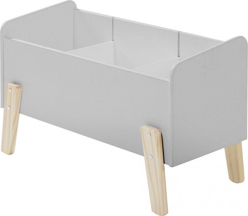 Coffre à jouet gris clair 2 étagères verticale – KIDDY