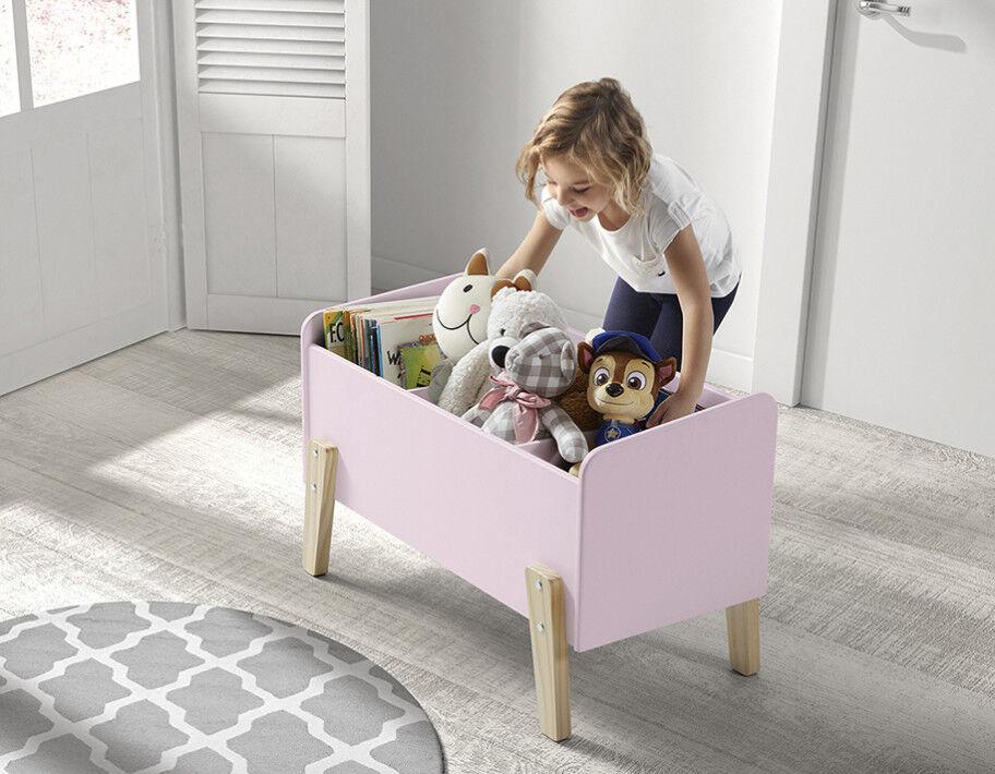 Coffre à jouet rose 2 étagères verticale – KIDDY