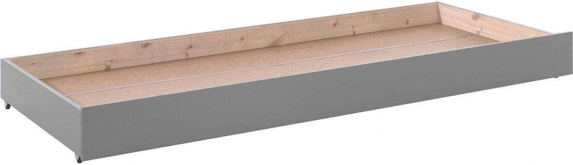 Tiroir lit enfant pin massif gris foncé – PINO