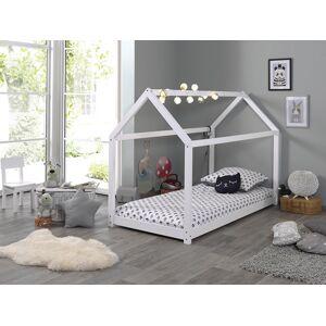 Lit enfant cabane 90x200 pin blanc - Publicité