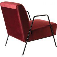 Fauteuil lounge velours bordeaux pieds métal - MAGALIE <br /><b>225 EUR</b> Destock Meubles