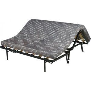 Banquette BZ tissu gris à motifs matelas 140x190 Sofaflex mousse - Publicité