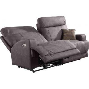 Canapé 2 places relax électrique gris éléphant ADELE - Publicité