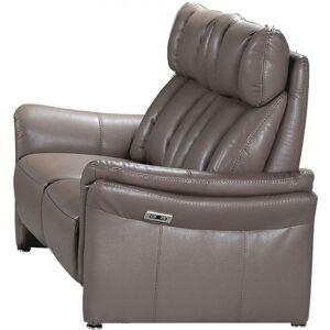 Canapé 2 places relax électrique taupe COLIN - Publicité