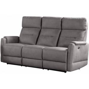 Canapé 3 places relax électrique gris antracite ROMELU - Publicité