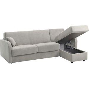 Canapé d'angle rapido convertible LEON microfibre gris clair - Publicité