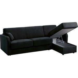 Canapé d'angle rapido convertible LEON microfibre noir - Publicité