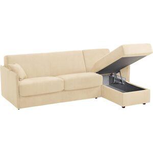 Canapé d'angle rapido convertible LUXOR microfibre beige - Publicité