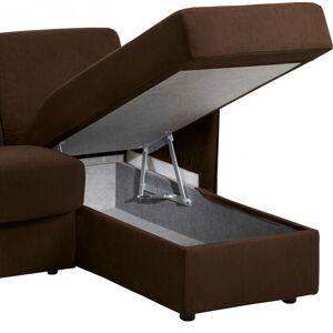 Canapé d'angle rapido convertible LUXOR microfibre chocolat - Publicité
