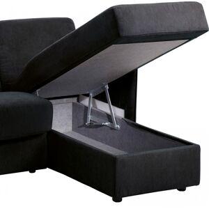 Canapé d'angle rapido convertible LUXOR microfibre noir - Publicité