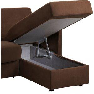 Canapé d'angle rapido convertible MARVEL microfibre chocolat - Publicité